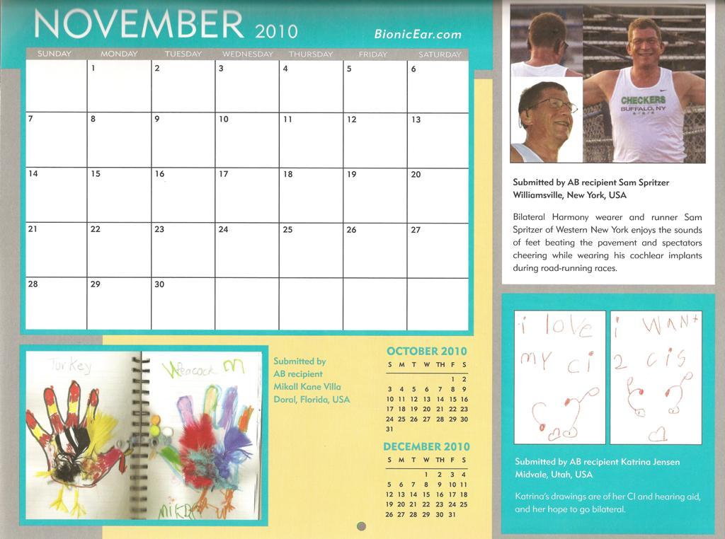 BEA Calendar November 2010